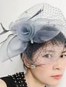 Women\'s Feather / Net Headpiece-Wedding / Special Occasion Fascinators 1 Piece