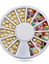 Vackert-Finger-Nagelsmycken- avAkryl-1wheel metal edge pearls nail decorations- styck6cm wheel- cm