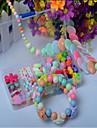 dix, colore bricolage main perles costume enfants jouets educatifs collier cadeau