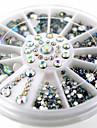 Vackert-Finger-Nagelsmycken- avAkryl-1wheel White AB nail decorations- styck6cm wheel- cm