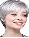 Perruque - Gris fonce - Droit - en Fibre synthetique  - pour Femme
