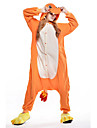 Kigurumi Pyjamas nya Cosplay® / drake Leotard/Onesie Halloween Animal Sovplagg Orange Lappverk Polar Fleece Kigurumi UnisexHalloween /