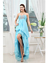 Cocktail Party Dress Sheath / Column Sweetheart Asymmetrical Chiffon with Beading / Side Draping