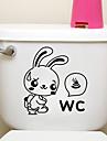 kreativa lilla kanin toalett klistermärken