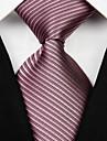 Cravată(Gri Închis / Maro Deschis / Burgundiu,Poliester)Dungi