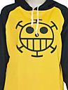 Inspirerad av One Piece Trafalgar Law Animé Cosplay Kostymer/Dräkter cosplay Pull Tryck Gul Lång ärm Kappa