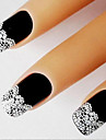 3D Elegant French Lace Edge Nail Stickers