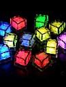 24st blå / röd / grön / rosa / gul / RGB / vit isbitar LED-ljus parti bröllop jul bar restaurang