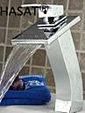 PHASAT®Waterfall Bathroom Sink Faucet Contemporary Design Brass Finish (Tall)