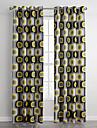 En panel Modern Geometrisk Multifärgad Living Room Polyester Panelgardiner draperier