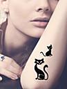 5 Tatueringsklistermärken Djurserier / tecknad serie Ogiftig / Mönster / VattentätDam / Herr / Vuxen / Tonåring Flash tatuering