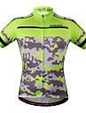 Wosawe® Cykeltröja Dam Unisex Kort ärm Cykel Andningsfunktion Snabb tork Anatomisk design FuktgenomtränglighetCollegetröja Tröja