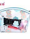 Sminkförvaring Kosmetisk påse / Sminkförvaring PU Blomma Ellips 20*10*12CM Svart Blekna / Silver