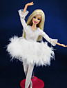 Informel Robes Pour Poupee Barbie Blanc Robes Pour Fille de Doll Toy