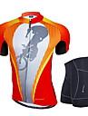 Nuckily Maillot et Cuissard de Cyclisme Homme Manches courtes Velo Ensemble de VetementsPare-vent Design Anatomique Permeabilite a