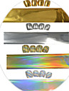 1pcs 100cm Gold/Silver/Laser Gold/Laser Silver Nail Art Transfer Foils Glitter Stickers  Nail Art Beauty  NC272