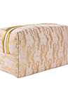 Sminkförvaring Kosmetisk påse / Sminkförvaring PU Spets Kvadrat 19x11.6x9.8cm Svart Blekna / Brun / Silver / Röd