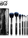msq® 10pcs fibres maquillage noir ensembles de brosses