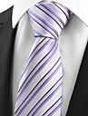 Cravată(Albastru / Violet,Poliester)Dungi