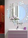 Botanisk / Romantik / Speglar / Fashion / Blommig / Former / Vintage / 3D Wall Stickers Väggstickers i 3D,Acrylic crystal 46*46CM