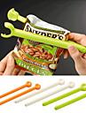 2st plast färgrik mat förseglade Spärren stick förvaringsspånsäck färska livsmedel mellanmål klipp grepp kaffe (slumpvis färg)