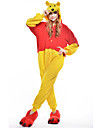 kigurumi Pyjamas New Cosplay® / Ours / Raton laveur Collant/Combinaison Fete / Celebration Pyjamas Animale Halloween Jaune Mosaique