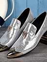 Silverfärgad Guldfärgad-Låg klack-Herr-Originell-Läder-Bröllop Fest/afton