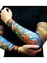 halv tatuering ärmar för män 2016 nya ankomst cykling manschetten armvärmare sol andnings elastisk cykel (par)