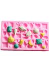 mini bijuterie tort fondant în formă de mucegai silicon de ciocolată, instrumente de decor cupcake, l12cm * w7.5cm * h1cm