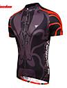 TASDAN Maillot de Cyclisme Homme Manches Courtes Velo Maillot Manchettes Hauts/Tops Sechage rapide Respirable Anti-transpiration 100 %