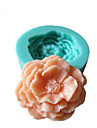 3D Pion Flowers Silikon Mögel Fondant Formar Sugar Craft Verktyg Choklad Mould För kakor