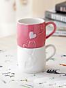 kreativa par kaffekopp cameo kärlek porslin köksredskap apparater