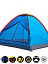 Fuktighetsskyddad / Vattentät / Ultraviolet Resistant / Snabb tork / Regnsäker / Damm säker / Anti Insekt / Kompression-Tält(Orange,3-4