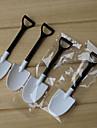 100pcs de unică folosință pateu alb-negru inghetata lingura de lopata mica floare ghiveci ghiveci lingură