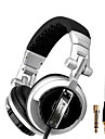 SENICC ST-80 Over-Ear Monitoring Headphone woth Mic, Remote och 6.3mm adapter för PC / iPhone / Samsung / HTC