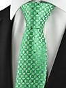 Cravată(Verde,Poliester)Grid