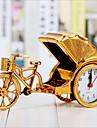 creatif alarme rickshaw retro decoration de bureau horloge de chevet en plastique