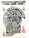 #(1) Tatueringsklistermärken Totemserier Mönster VattentätHerr Vuxen Kille Blixttatuering tillfälliga tatueringar