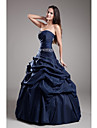 TS Couture® Formal Evening Dress Ball Gown Strapless Floor-length Taffeta with Beading / Pick Up Skirt