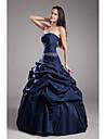 ts couture® muodollinen iltapuku pallo viitta olkaimeton kokopitkiin taffeta kanssa helmikoristelu / poimia hame