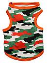 Katter / Hundar T-shirt Svart / Orange Hundkläder Vår/Höst Kamouflage Mode DroolingDog