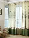 Two Panels Print Tree  Room Darkening Curtains