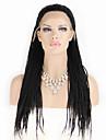 perruques mode perruques synthetiques dentelle devant 32inch tresses chaleur noir cheveux resistants perruques femmes