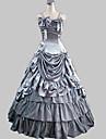 Palabra de longitud sin mangas de raso gris Princesa Lolita vestido