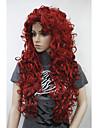 nytt mode hår kvinnors cosplaya parti peruker blont långt lockigt lugg fullt peruk