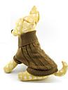 Pisici / Câini Pulovere Maro Îmbrăcăminte Câini Iarnă / Primăvara/toamnă Solid
