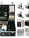 Kit de tatouage complet 4 x Machine a tatouer en acier pour le tracage et l\'ombrage 4 Machines de tatouage LCD alimentationEncres