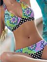 Femei Bikini Femei Bustieră Floral Sutiene cu Bureți Polyester