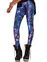 Feminin Culori Mate Imprimeu Legging,Polyester Mediu
