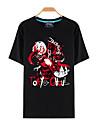 Inspirerad av Tokyo Ghoul Ken Kaneki Animé Cosplay-kostymer Cosplay T-shirt Tryck Svart Kort ärm Topp För Man